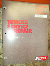 1977-87 MITCHELL DOMESTIC MEDIUM HEAVY TRUCK TRANSMISSION SERVICE REPAIR MANUAL