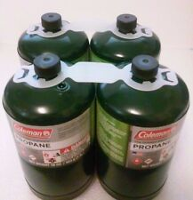 COLEMAN 16 oz 1lb Propane Gas Fuel Cylinders Outdoor Camping Stove Fuel LOT OF 4