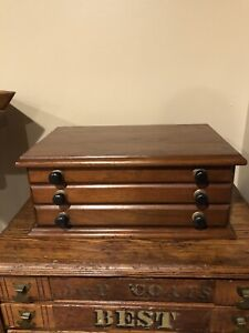 Antique Thread / Ribbon Drawer Cabinet