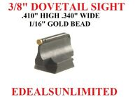 """3/8"""" Dovetail Front Sight .410"""" H .340"""" W  1/16""""  GOLD BEAD Marlin Uberti Henry"""