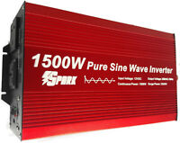 1500w (3000W) 1500 watt pure sine wave power inverter 12v 230V AC  caravan