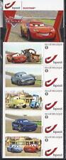 Belgium**CARS-PIXAR Movie-Booklet 5 Duostamps-CARTOONS-McQueen-BD-Bande Dessinée