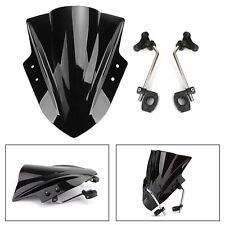 "Universal 7/8"" 22mm Handlebar ABS Plastic Motorcycle Windshield WindScreen Bk UK"