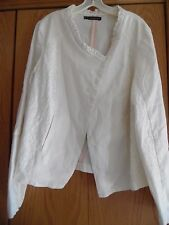 Womens Plus Size 2X Maurices Trendy Ivory Jacket Coat Snap Ruffle Lace