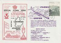 19 SEPT 1973 JEUNESSE ESCH v LIVERPOOL EUROPEAN CUP DAWN FLOWN FOOTBALL COVER