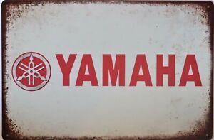 Yamaha Dealer Motorcycle Metal Garage Sign Wall Plaque Vintage Sign Man Cave