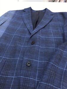 Mens Massimo Dutti Blue Checked Blazer Size M