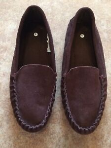 Men's Brown Leather/Suede Loafer Shoes Size:8