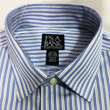 Jos A Bank 15 1/2-36 Slim Fit Mens Dress Shirt Blue NWT