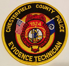 Chesterfield County Police Department Evidence Technician Cloth Patch