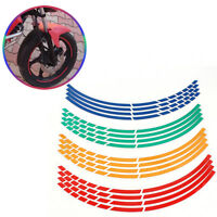 16x Strips Bike /Motorrad Auto-Reifen-Aufkleber Reflektierende Felgenband best