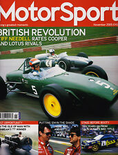 Motor Sport Nov 2005 - Lotus 18 vs Cooper T53, Colin McRae World Champion, Macau