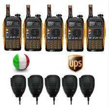 5×Baofeng GT-3 TP Mark III + 5×Speaker 1/4/8W Walkie Talkies Ricetrasmittente
