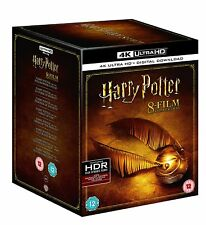Harry Potter The Complete 8 Film 4k Ultra HD UHD Collection Box Set USED