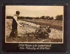 117691 Foto DKW Motoren in der Landwirtschaft Klein Motorpflug 1928 Rasmussen