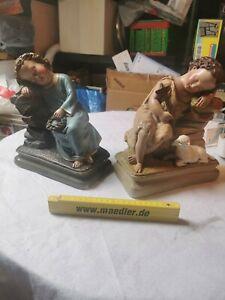 Heiligenfigur Jesus Kind aus Gips 2 Stück