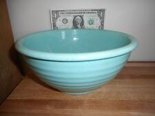 """Antique/Vintage McCoy? Red Wing? 9"""" X 4"""" Green Stoneware Mixing Bowl-USA"""