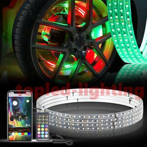 14 inch Led Light Strip RGB Dream Chasing Wheel Ring Light Kit for Dodge Charger
