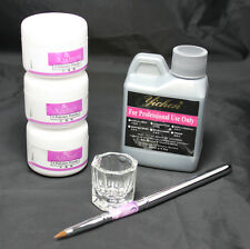 US SALE- 6 IN 1 Simply Nail Art Kit Acrylic Liquid Powder Pen Dappen Dish Tools