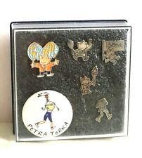 6 pins Juegos Olimpicos 92 Barcelona Cobi  + Petra paralímpica Originales 1992