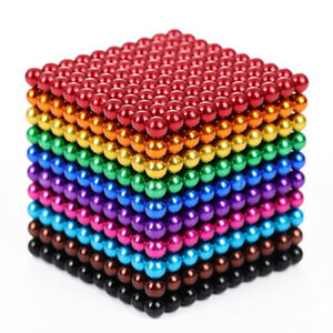 Magnets Magic Balls 1000 Beads 3/5mm Puzzle Ball Sphere Magnetic Toys 10 Colors