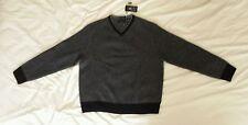 Daniel Bishop 100% Cashmere Luxury Black Sweater Size Large NWT $549.99