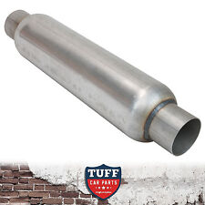 "3"" Megapower Exhaust Hotdog Resonator Muffler Glass Pack 15"" Long High Flow New"
