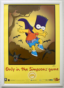 The Simpsons Game RARE PS2 Wii 42cm x 59cm Promotional Poster #2