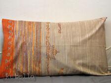 Housse de coussin latira Taupe Orange 80x50 NEUF fabricant ZUCCHI