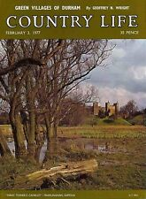 Country Life Magazine Durham Villages 3 February 1977 Birthday Gift Born in 1977