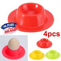 4 Pcs Silicone Egg Cups Serving Kitchen In Modern Design Boiled Holders Set