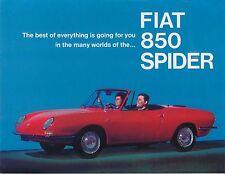 FIAT 850 Spider 843cc 1967 original usa marché brochure no frm-d200-567.