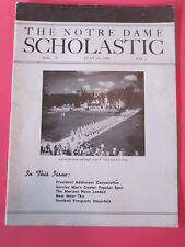 The Notre Dame Scholastic July 16, 1943 Ed Krause named Basketball coach