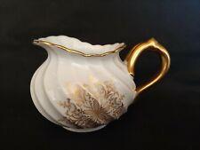 Ancien Pot à Lait Torse Haviland Porcelaine de Limoges blanc et or