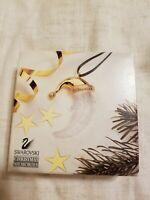 Swarovski  Crystal Christmas Memories Gold Ornament-  Moon 203077