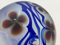 CORREIA Iridescent Paperweight, Signed