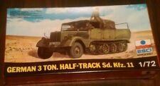 New sealed ESCI GERMAN 3 ton HALF TRACK SD KFZ 11 1:72 vintage model kit
