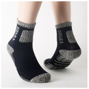 15 Pairs Mens Athletic Hiking Cushioned Sports Crew Socks Navy US Size 7-12