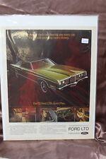 "Vintage Automobile Advertisement 11 X 14"" 1972 Ford LTD (EE)"