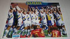 POSTER FOOTBALL 1994 COUPE DU MONDE WM SUEDE 3ème SVERIGE BROLIN LARSSON RAVELLI