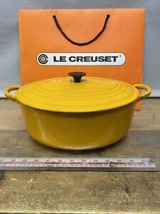 Le Creuset No E Yellow Oval Casserole Dish 29cm Di, 11.5cm High See Description