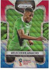 2018 Panini FIFA World Cup Blue Red Wave Prizm (141) Kelechi IHEANACHO Nigeria