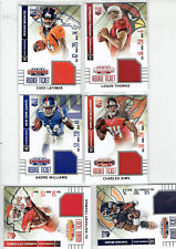 2014 Contenders Rookie Ticket Patches,6 card lot,Carey,Sims,Thomas,Latimer + 2
