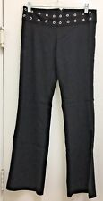 XOXO Junior's Black Rayon Polyester Mid Rise Slit To The Knee Dress Pant Size 5