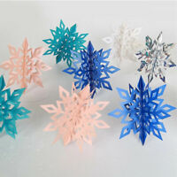 Large 3D Snowflake Hanging Christmas Party Decoration Xmas Gift