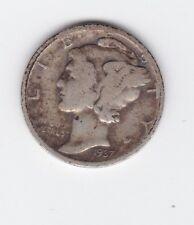 1937 MERCURY SILVER DIME United States America Coin S-464