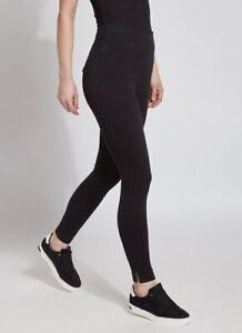 NEW Lysse High Waist Skinny Denim Leggings - Black - Large