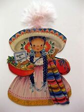 1947 Hallmark Paper Doll Card Land of Make Believe Maria Of Mexico
