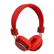 RED NIA Collapsible Micro SD/FM Radio/MP3 Player Bluetooth Headphone With Mic