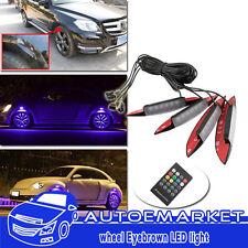 4pcs Multi-color Car Fender Wheel Eyebrow Protector LED Lights W/ Remote Control